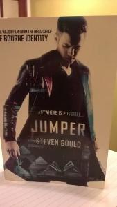 A picture of Steven Gould's sci-fi classic, Jumper