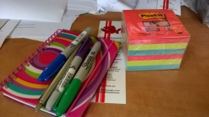 I've got the stationery, now I just need some words...