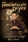 Cover of Katy Haye's The Immortality Device